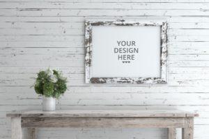Free Premium: Rustic Frame Mockup Set - Mockup
