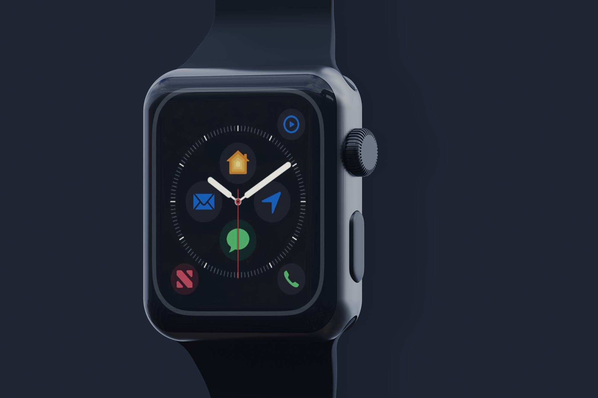 Free Black Apple Watch Mockup