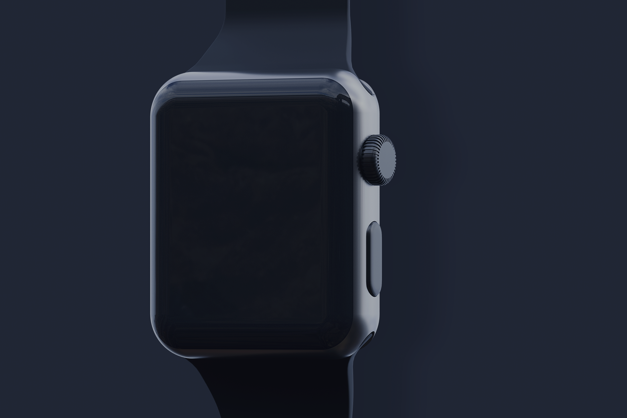 Free Black Apple Watch Mockup