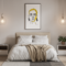 Free Framed Poster in Bedroom Mockup