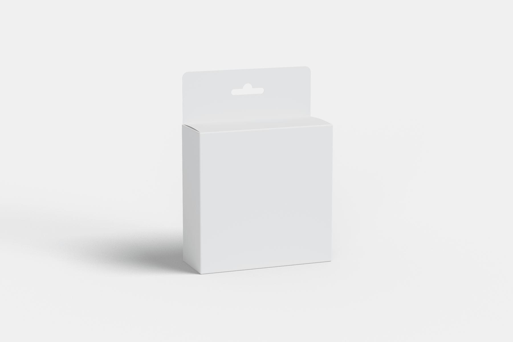 Free Hanging Packaging Box Mockup 1