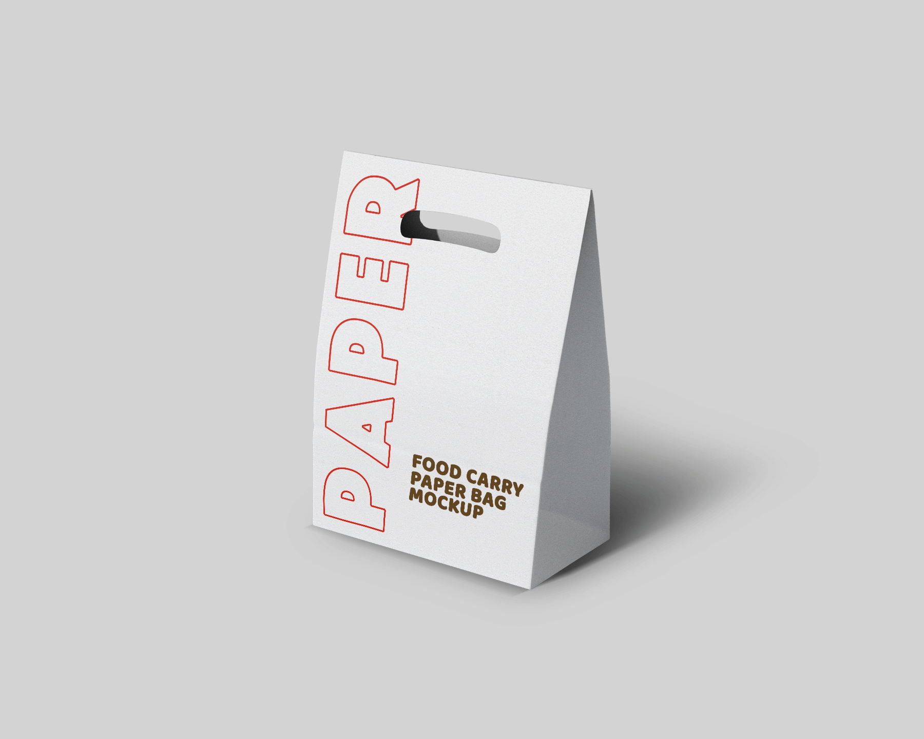 Free Take-away Paper Bag Mockup Set