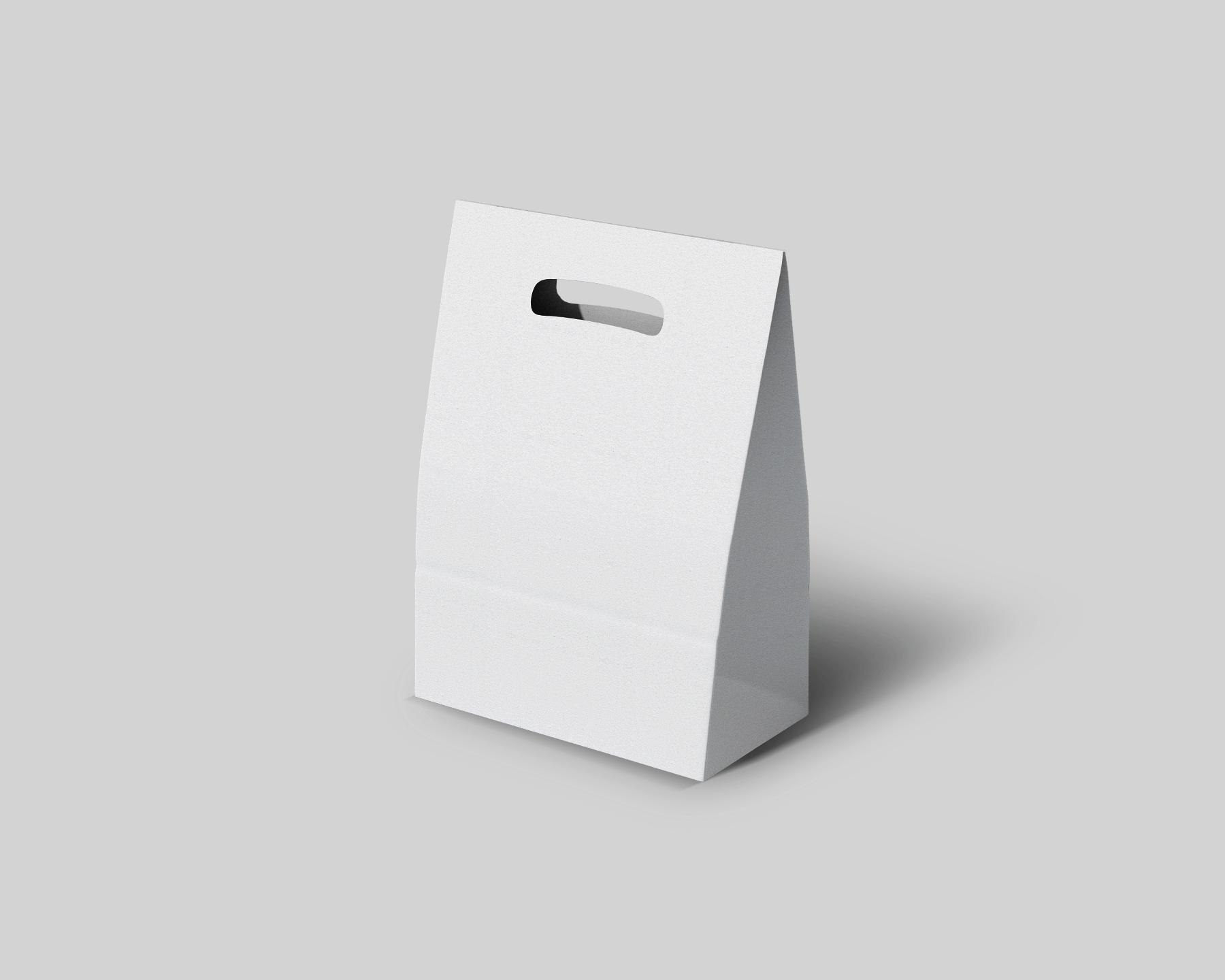 Free Take-away Paper Bag Mockup Set