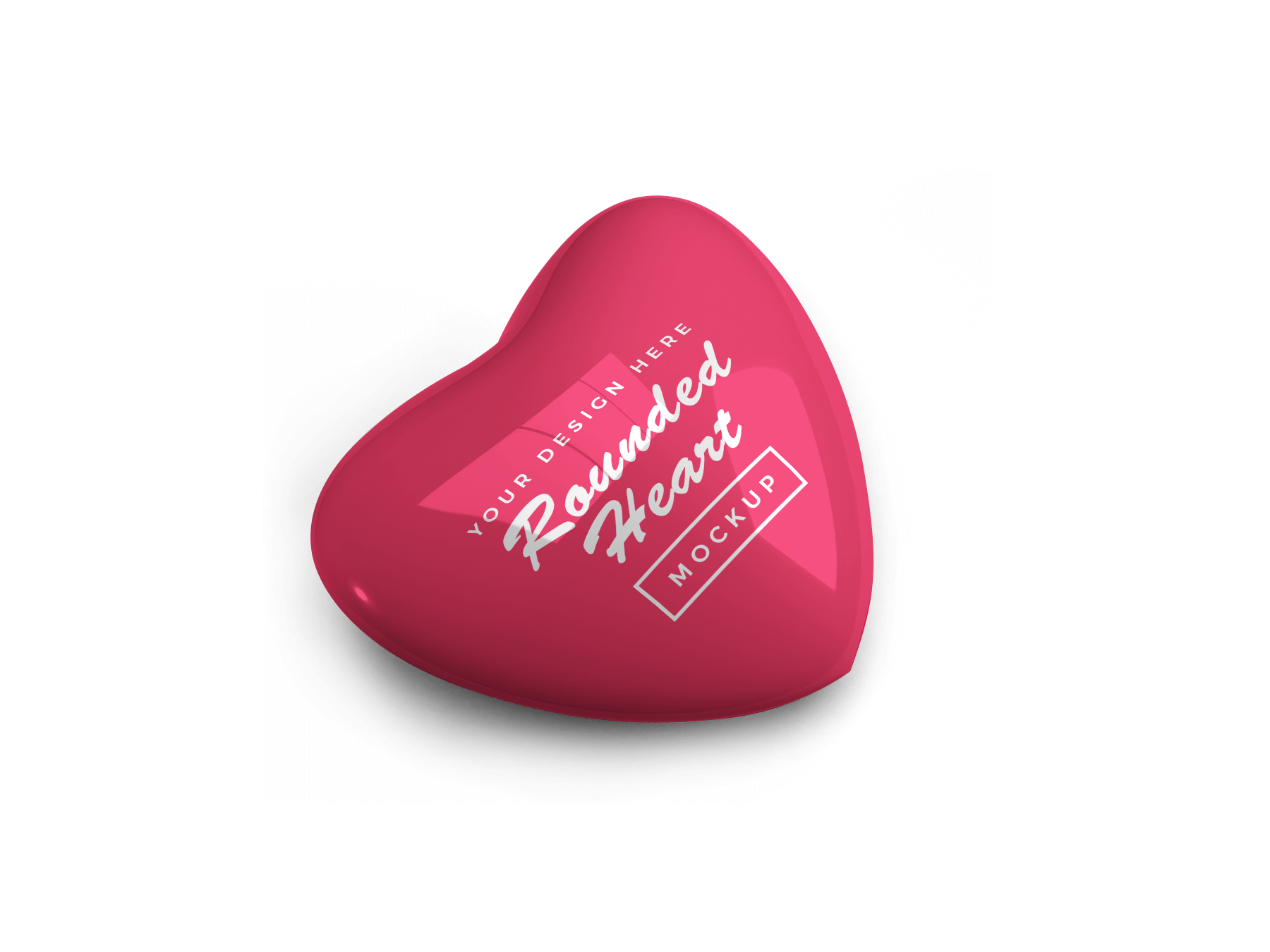 Free Valentine Heart Mockup