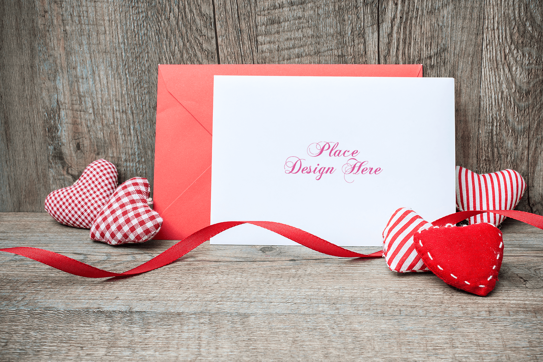 Free Valentine's Day Card Mockup