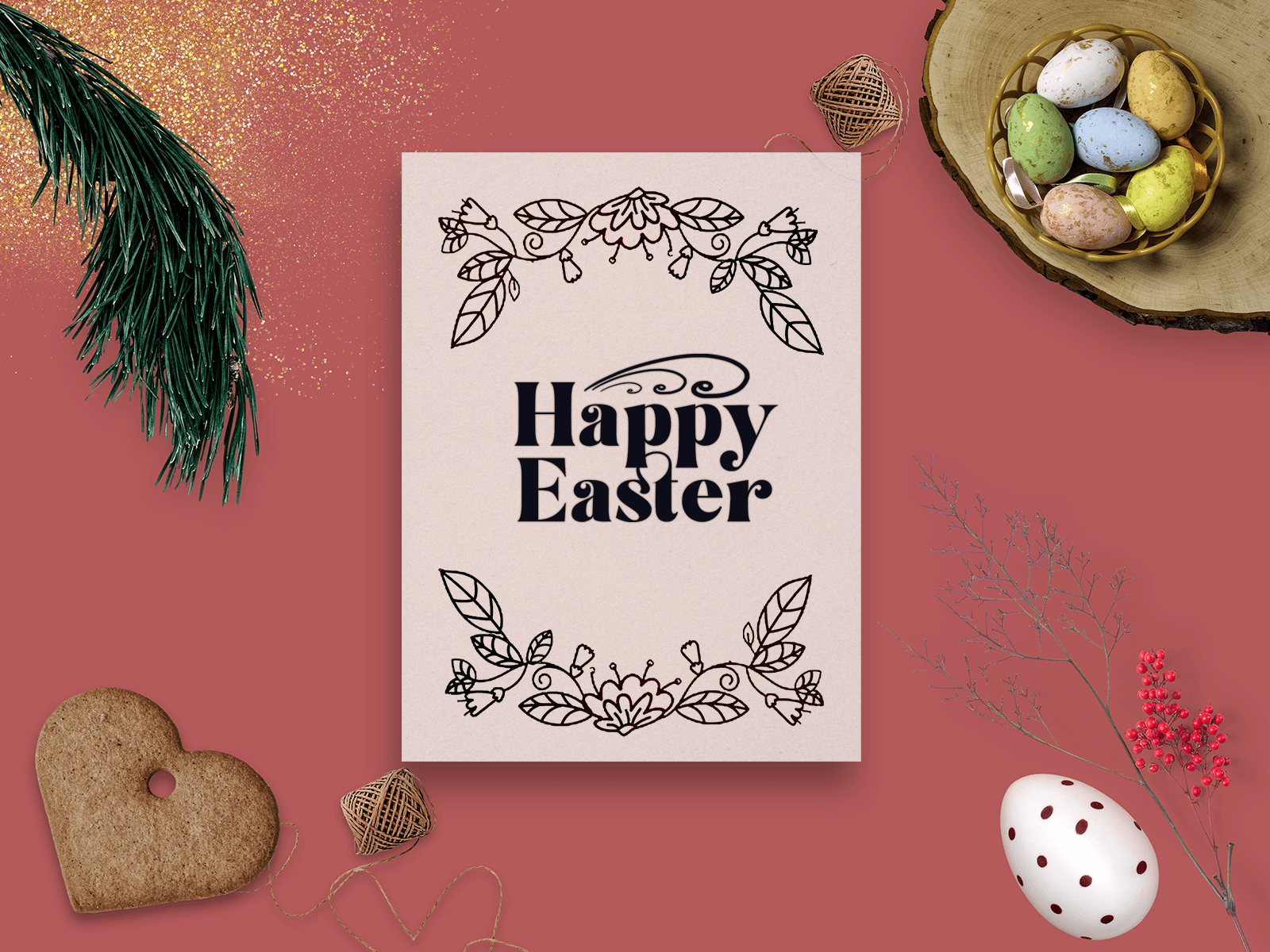 Free Easter Cards Mockup 1