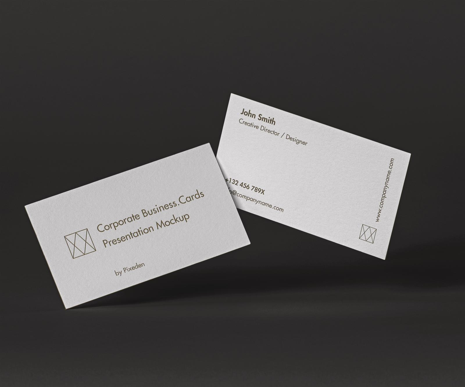 Free Elegant Business Cards Mockup 1