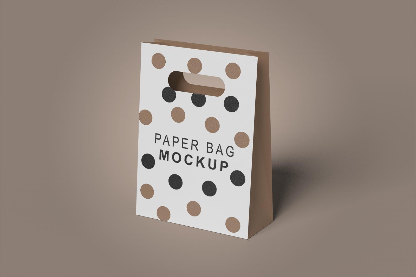 Free Foldable Paper Bag Mockup 1