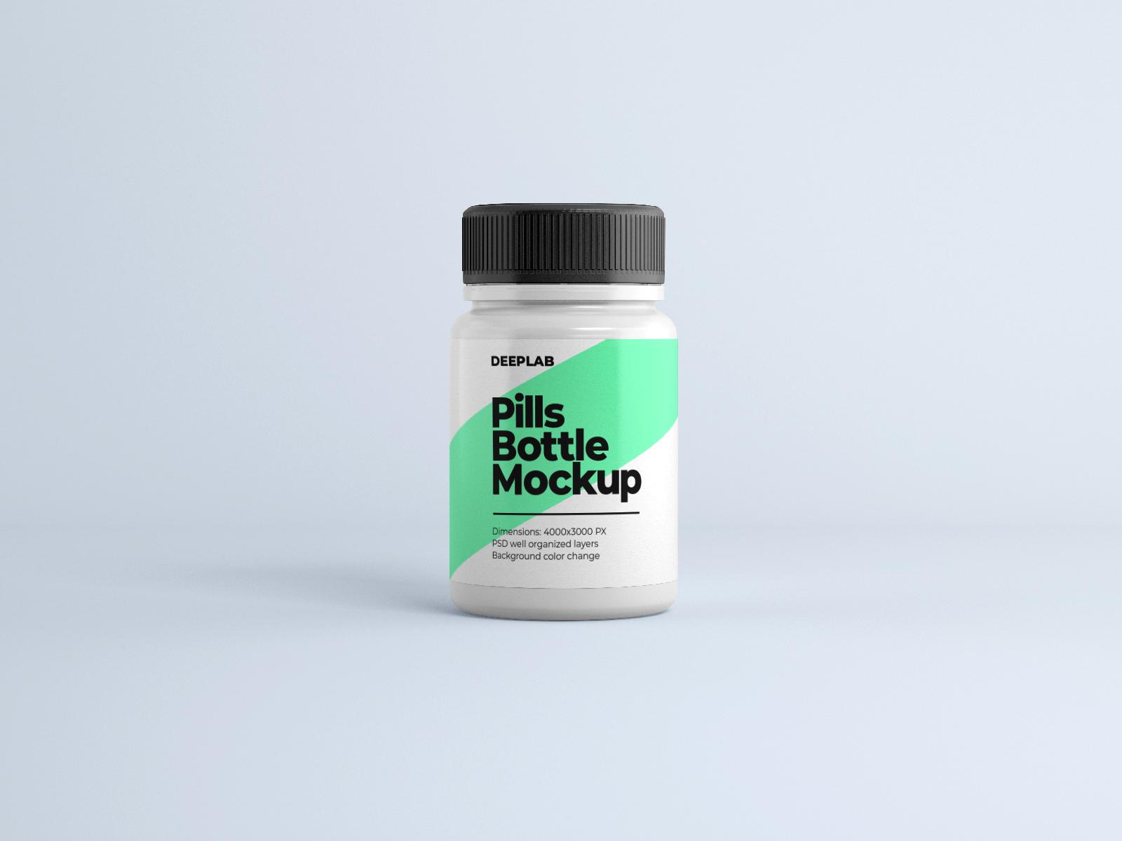 Free Pill Jar Mockup Bundle