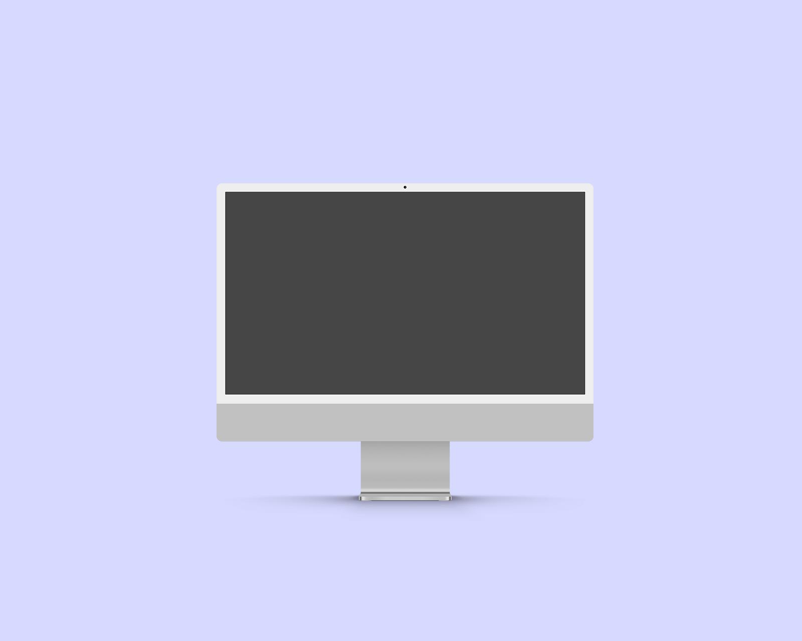 Free iMac 2021 Mockup