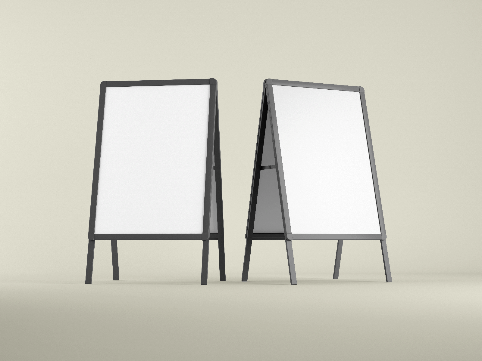 Free Advertising A-Stand Mockup Set