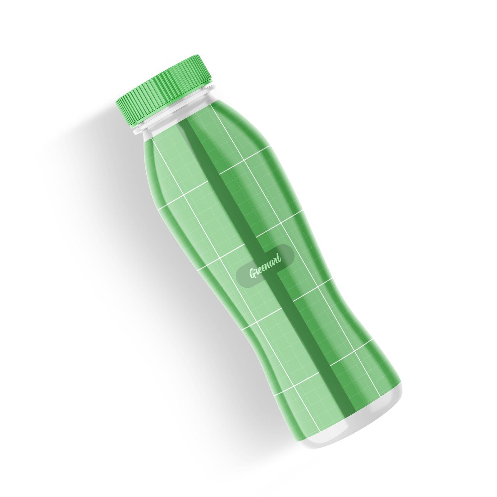 Free Plastic Bottle Mockup Set 1