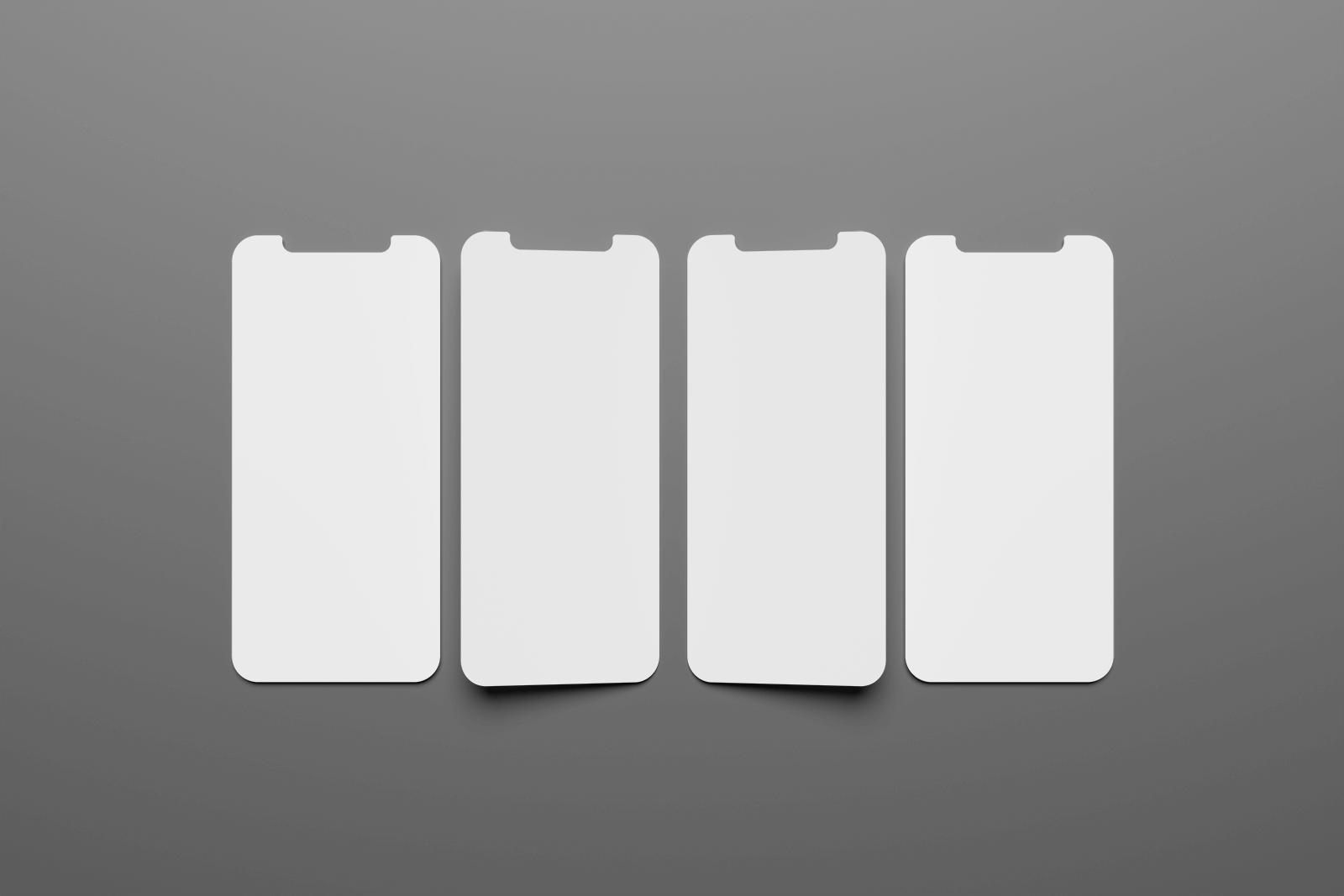 Free iPhone UI Screens Mockup Set