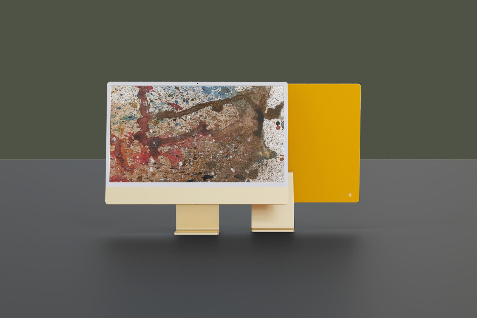 Free 2021 iMac (all Colors) Mockup