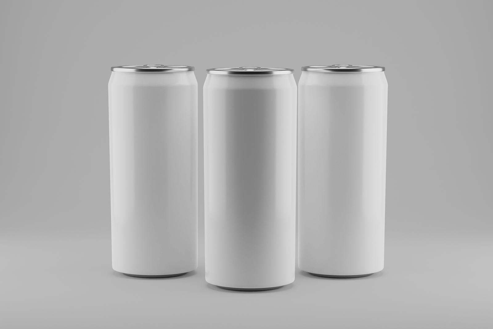 Free Aluminum Cans Mockup