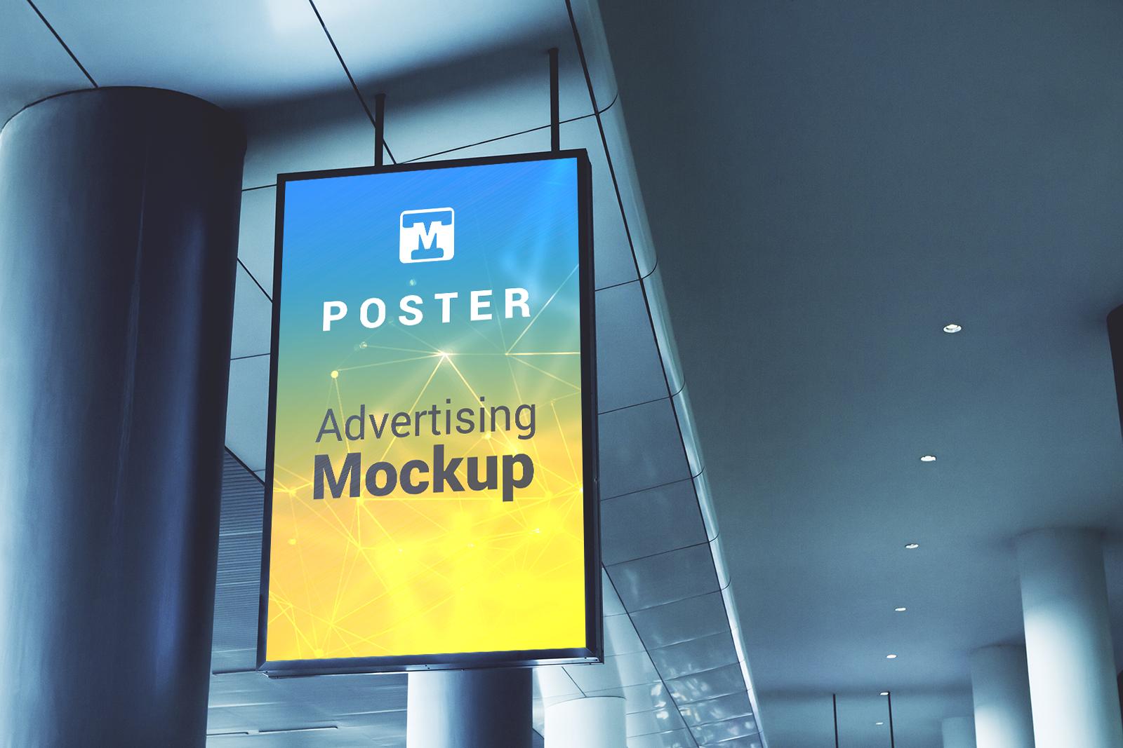 Free Hanging Billboard Mockup