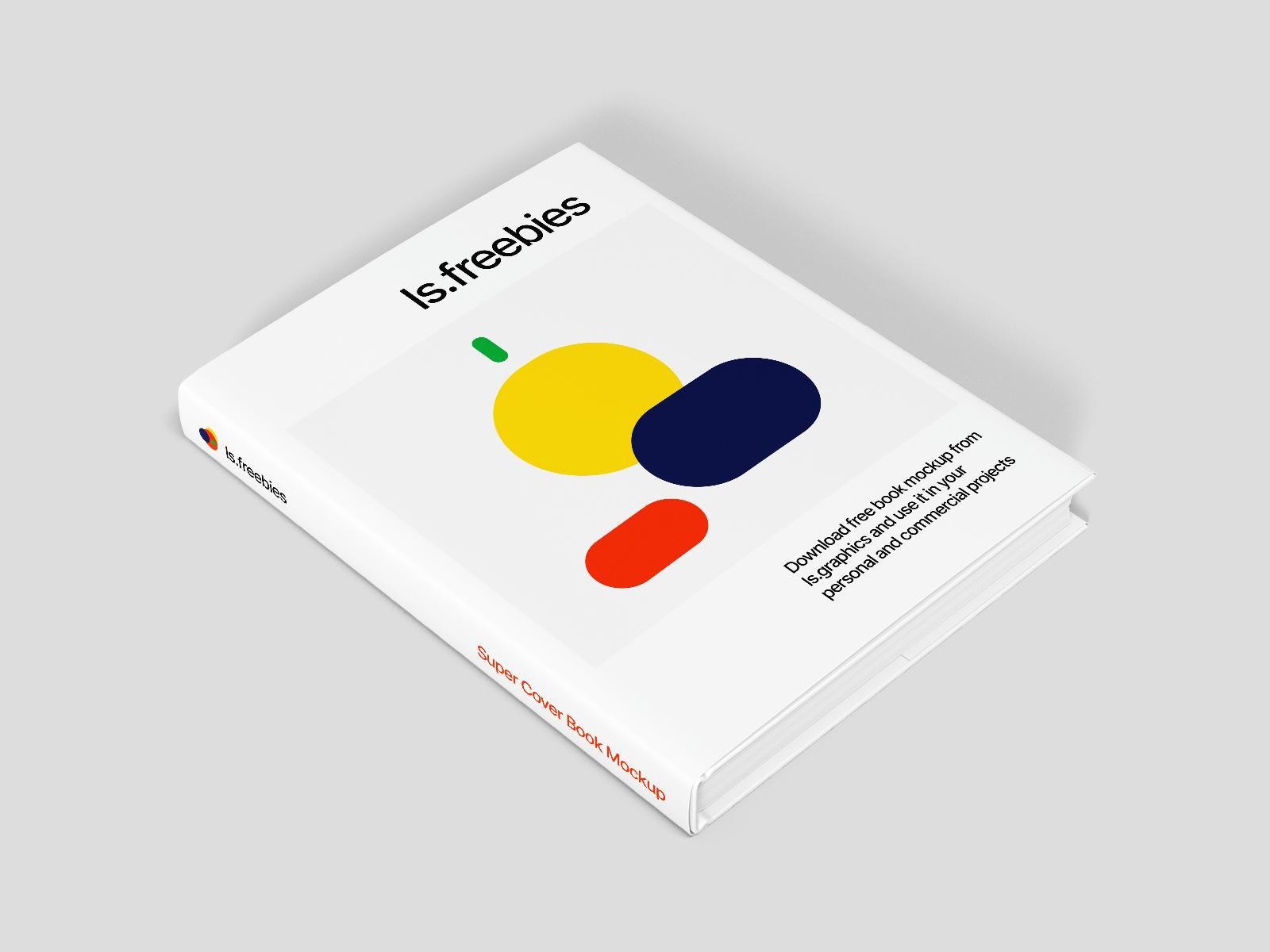 Free Hardback Book with Sleeve Mockup