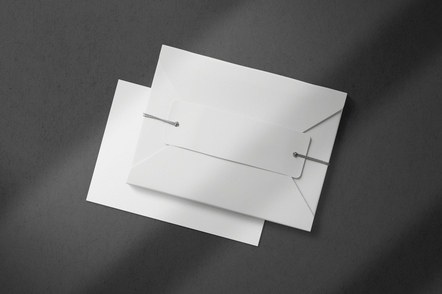 Free Card with Envelope Mockup