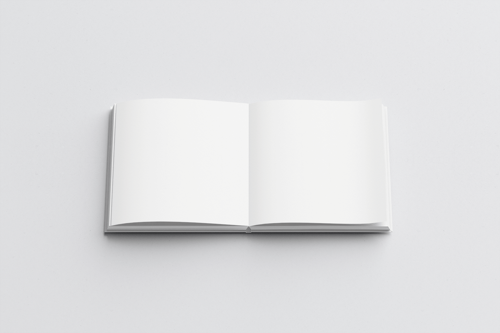 Free Open Square Hardcover Book Mockup