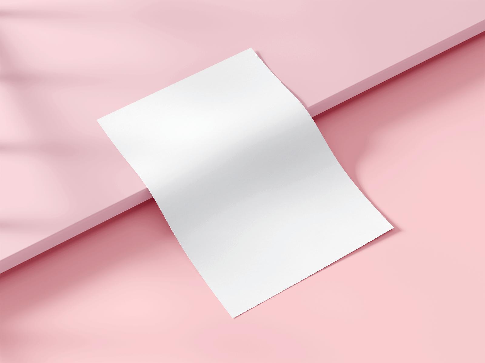 Free Paper (A4 & US Letter) Presentation Mockup