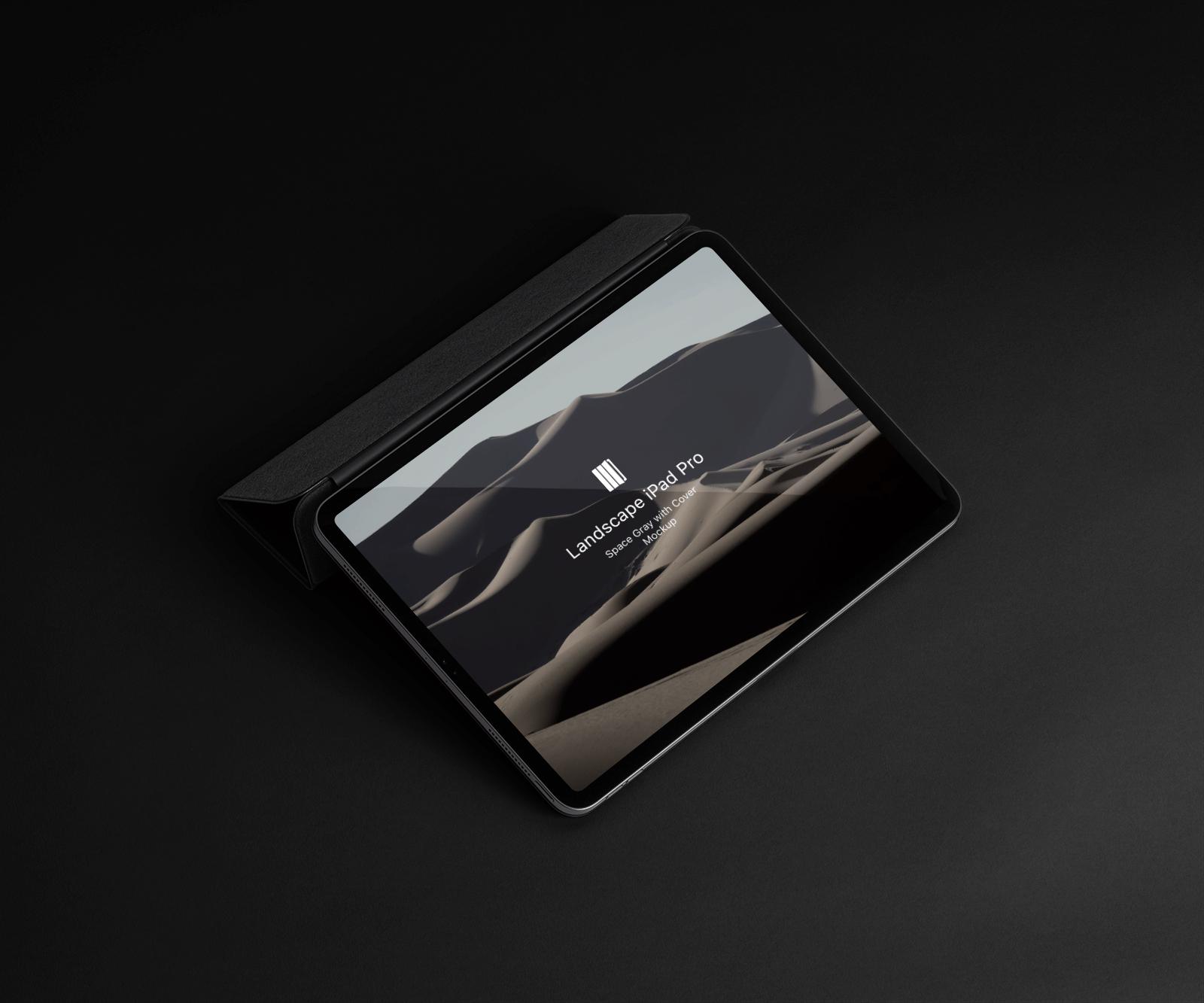 Free iPad Pro (Landscape) Mockup