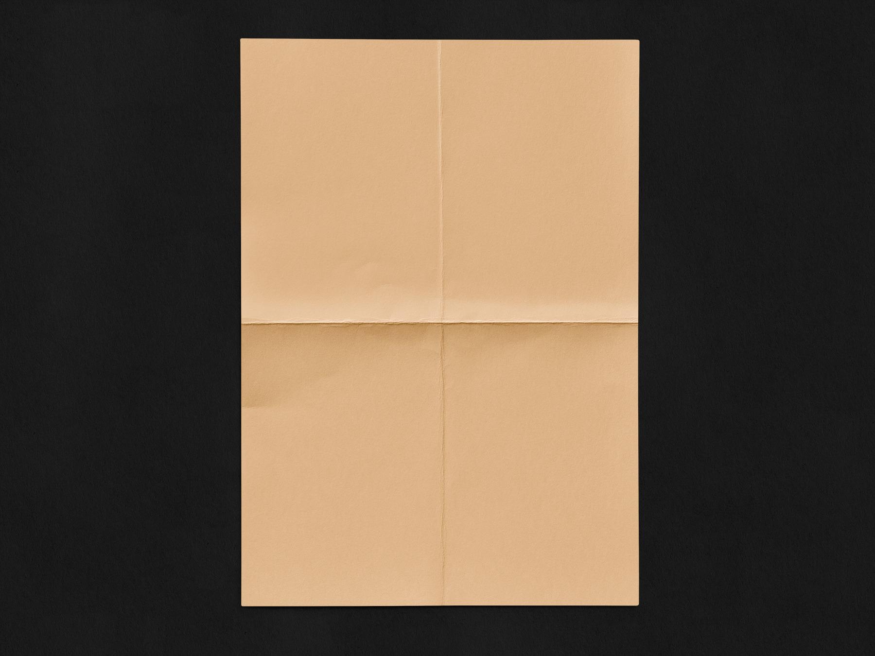 Free Crumpled and wrinkled Paper Mockup Set