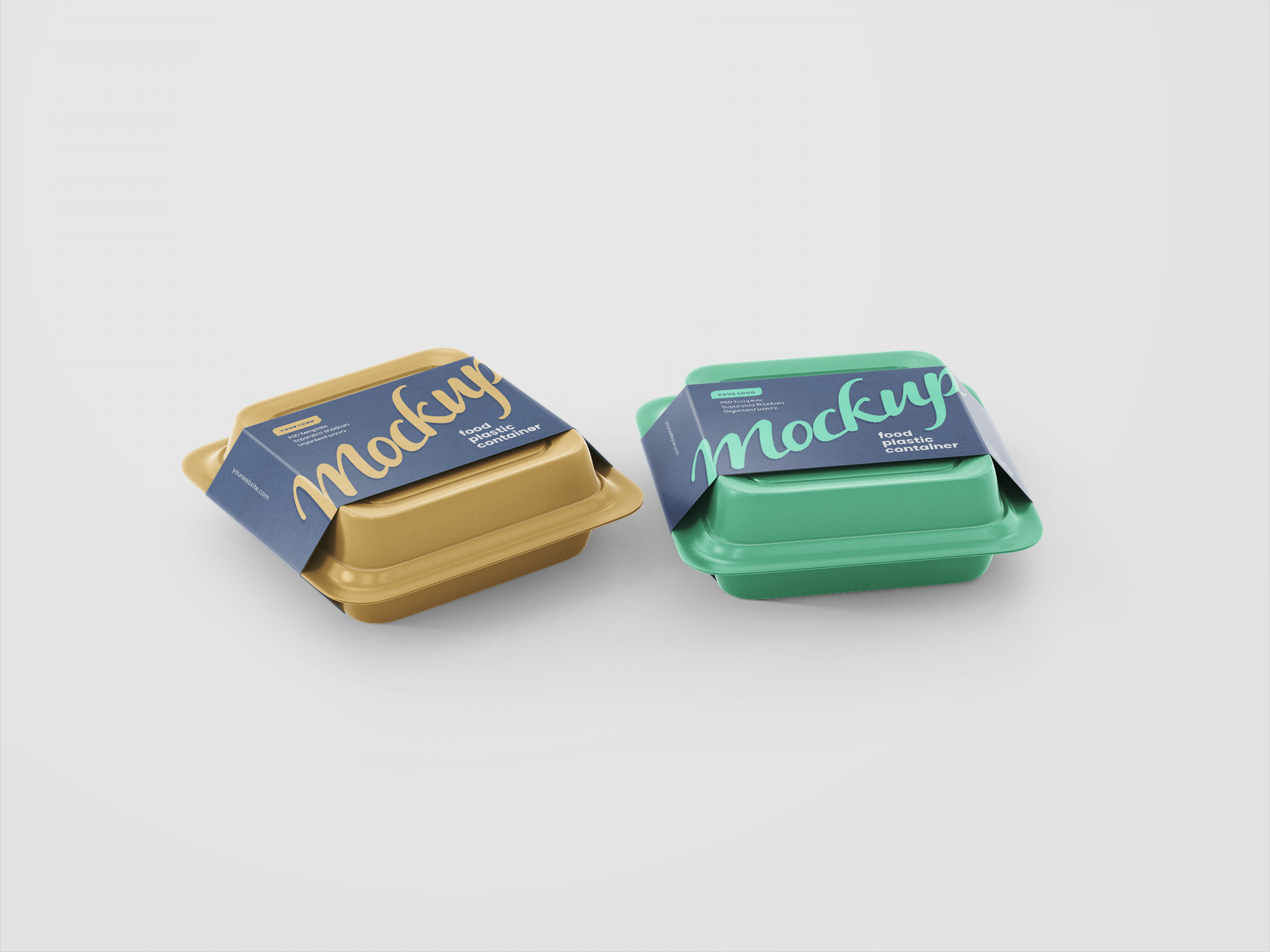 Free Food Containers Mockup