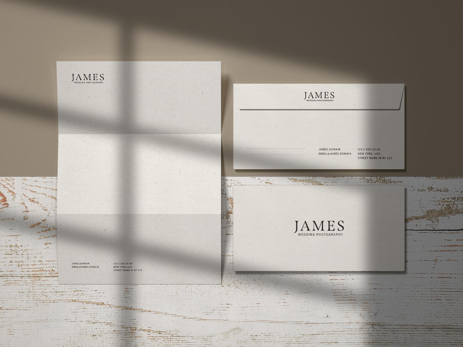 Free Letter and Envelopes Mockup