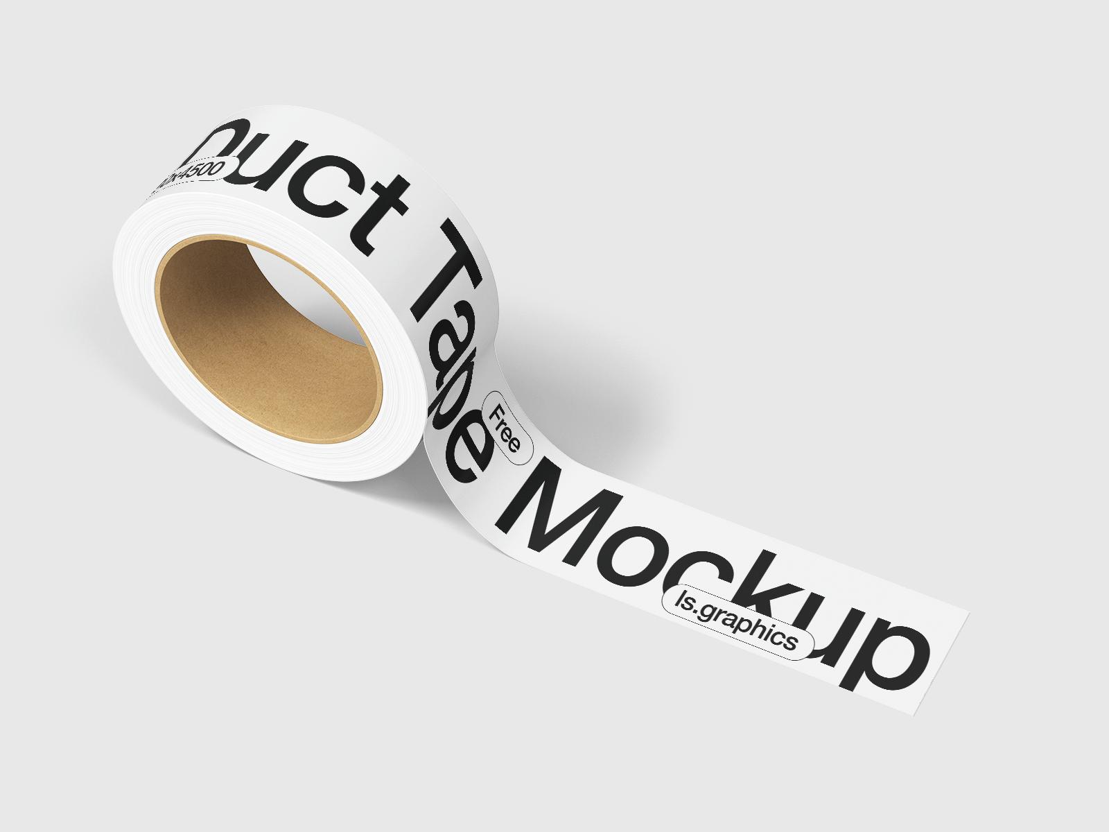 Free Packaging Tape Mockup