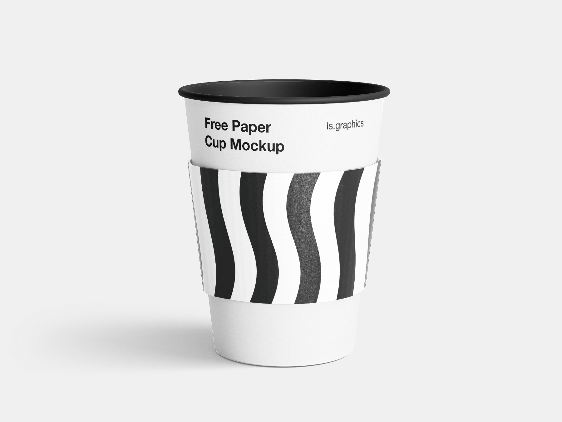 Free Paper Cup with Sleeve Mockup