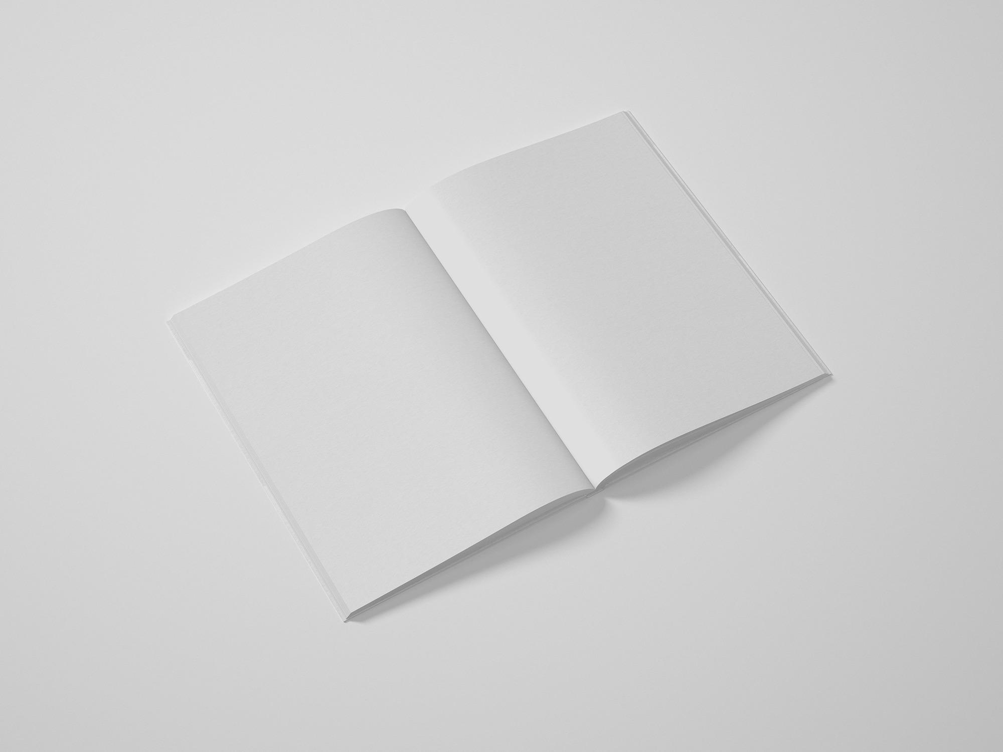 Free Perfect Binding Magazine Mockup