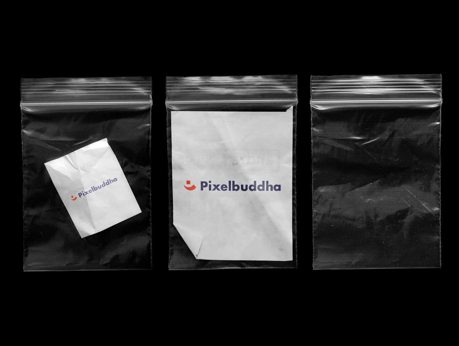 Free Plastic Zip Bags Mockup