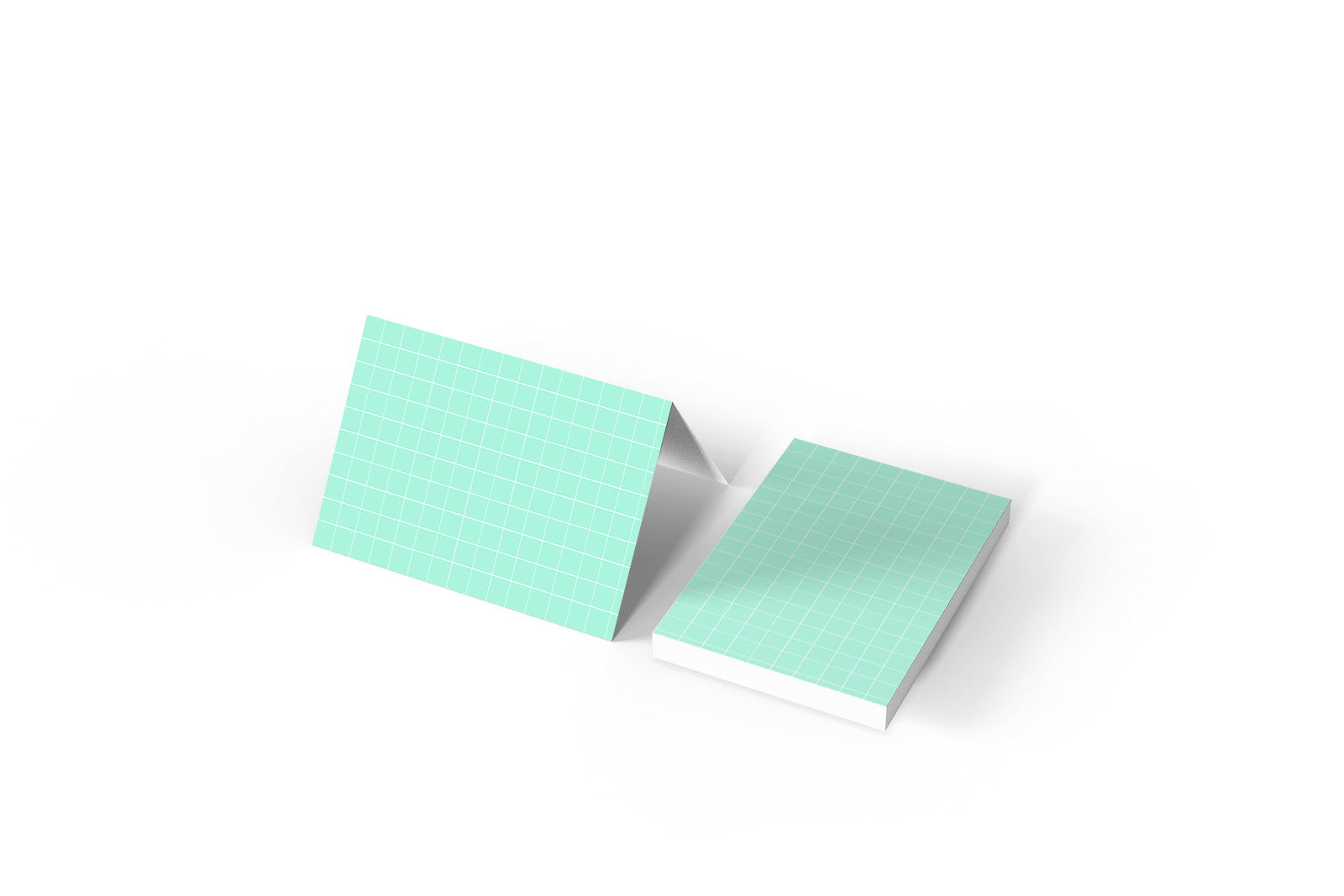Free Stack of folded Greeting Cards Mockup