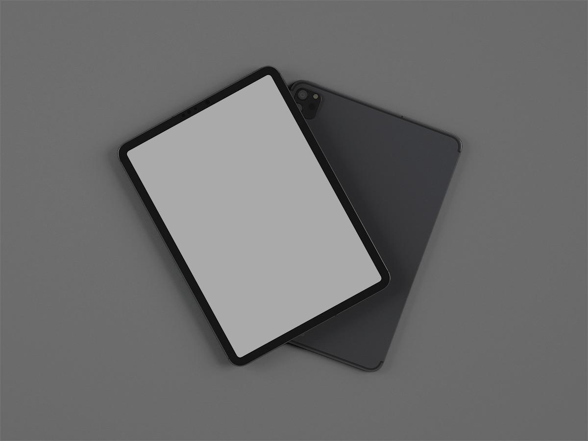 Free iPad Pro (Front & Back) Mockup