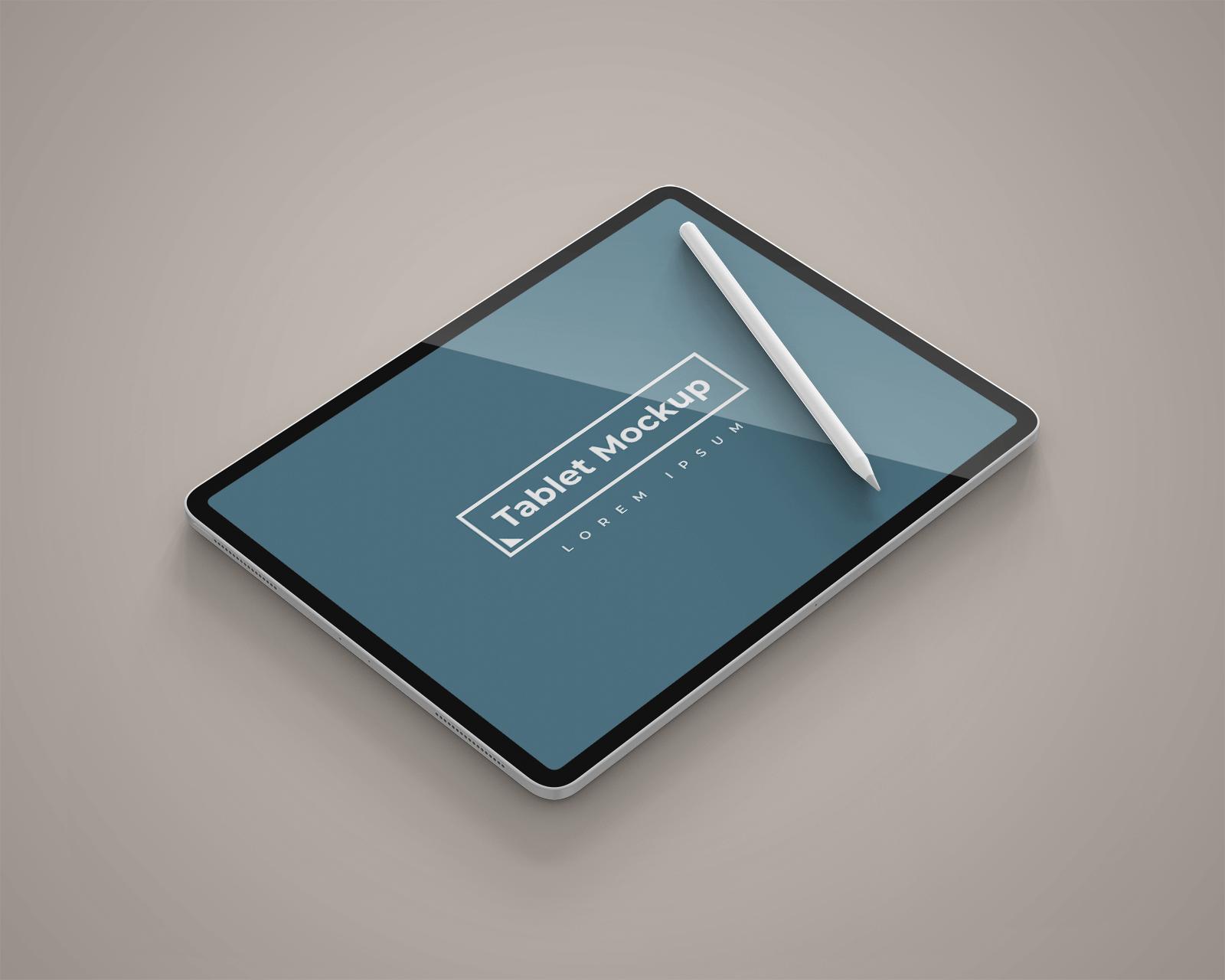 Free iPad Pro with Stylus Mockup