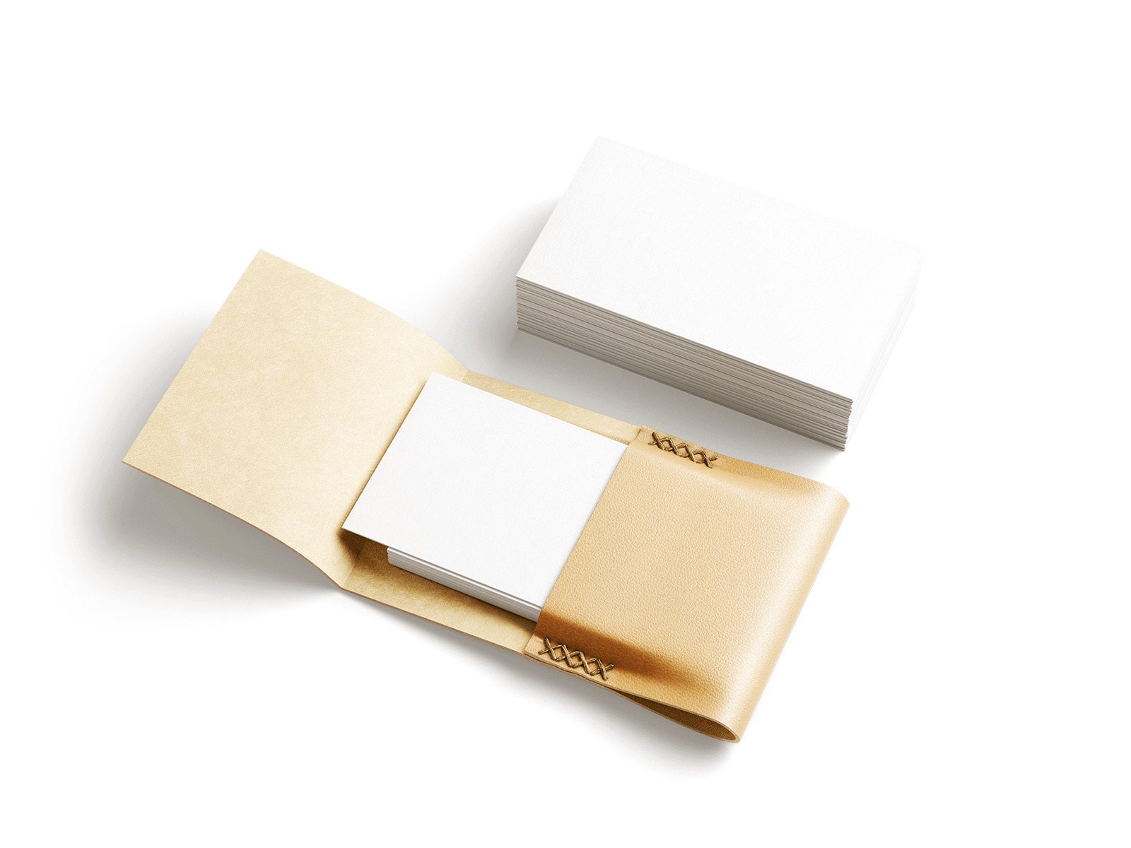 Free Leather Business Card Holder Mockup
