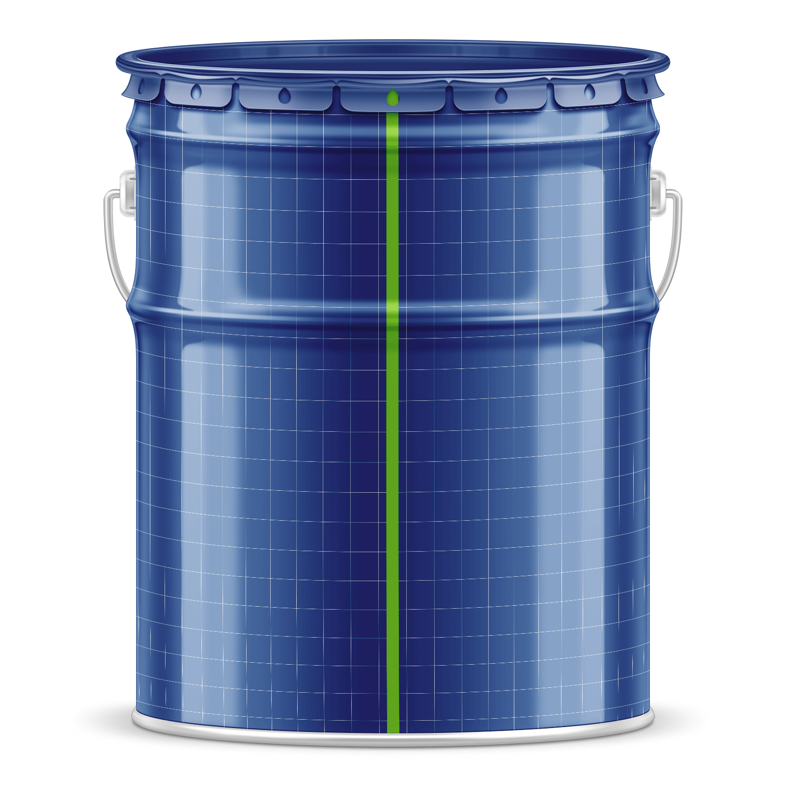 Free Metal Paint Bucket Mockup