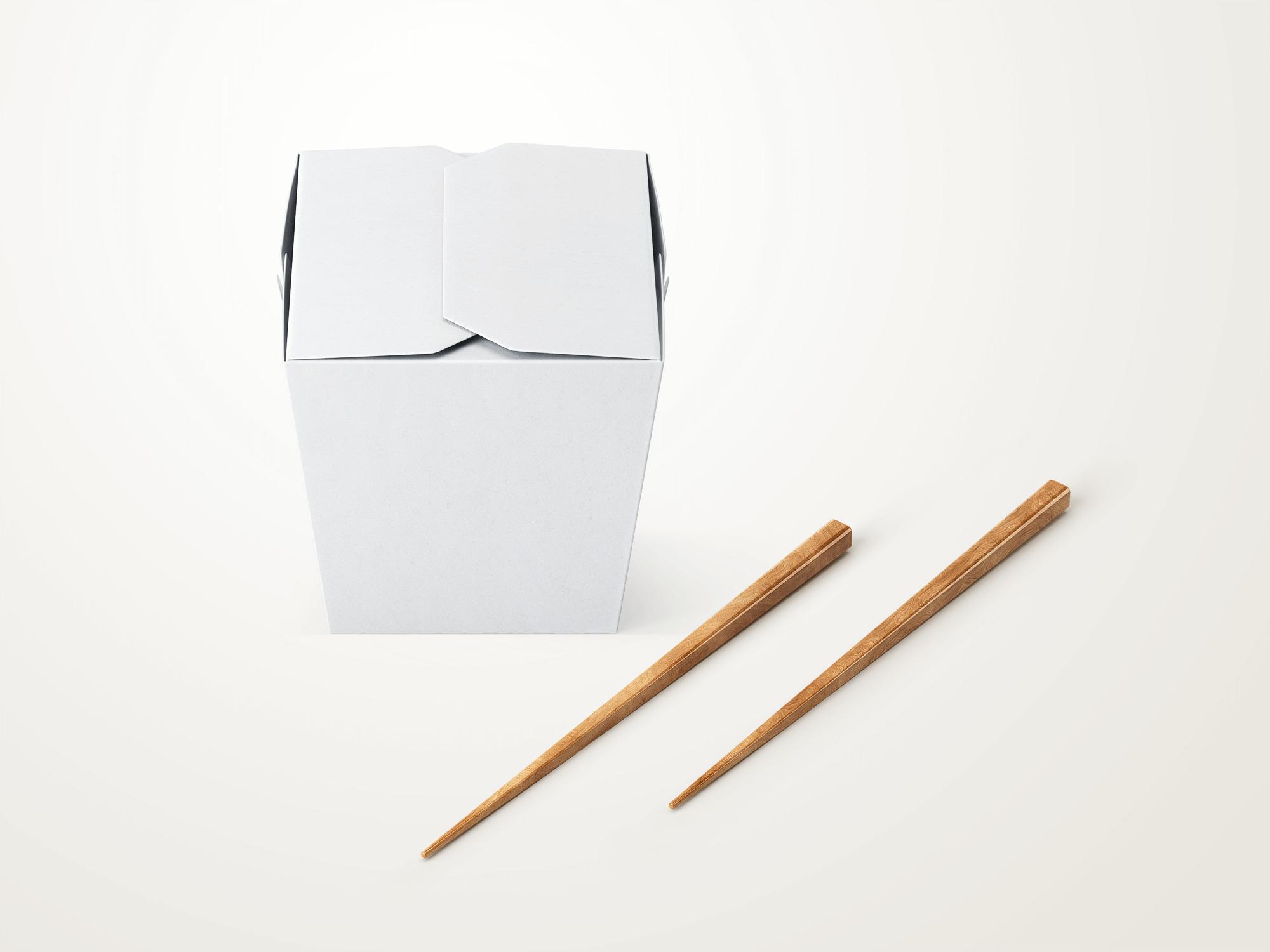 Free Noodle Box Mockup