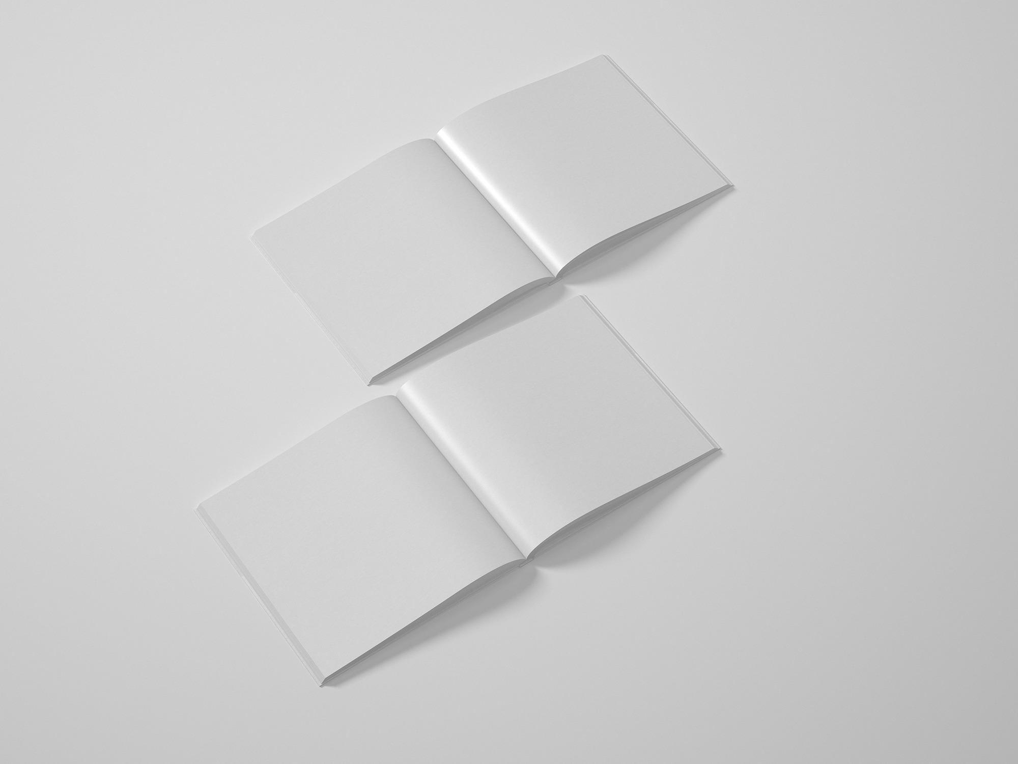 Free Square Catalog Mockup