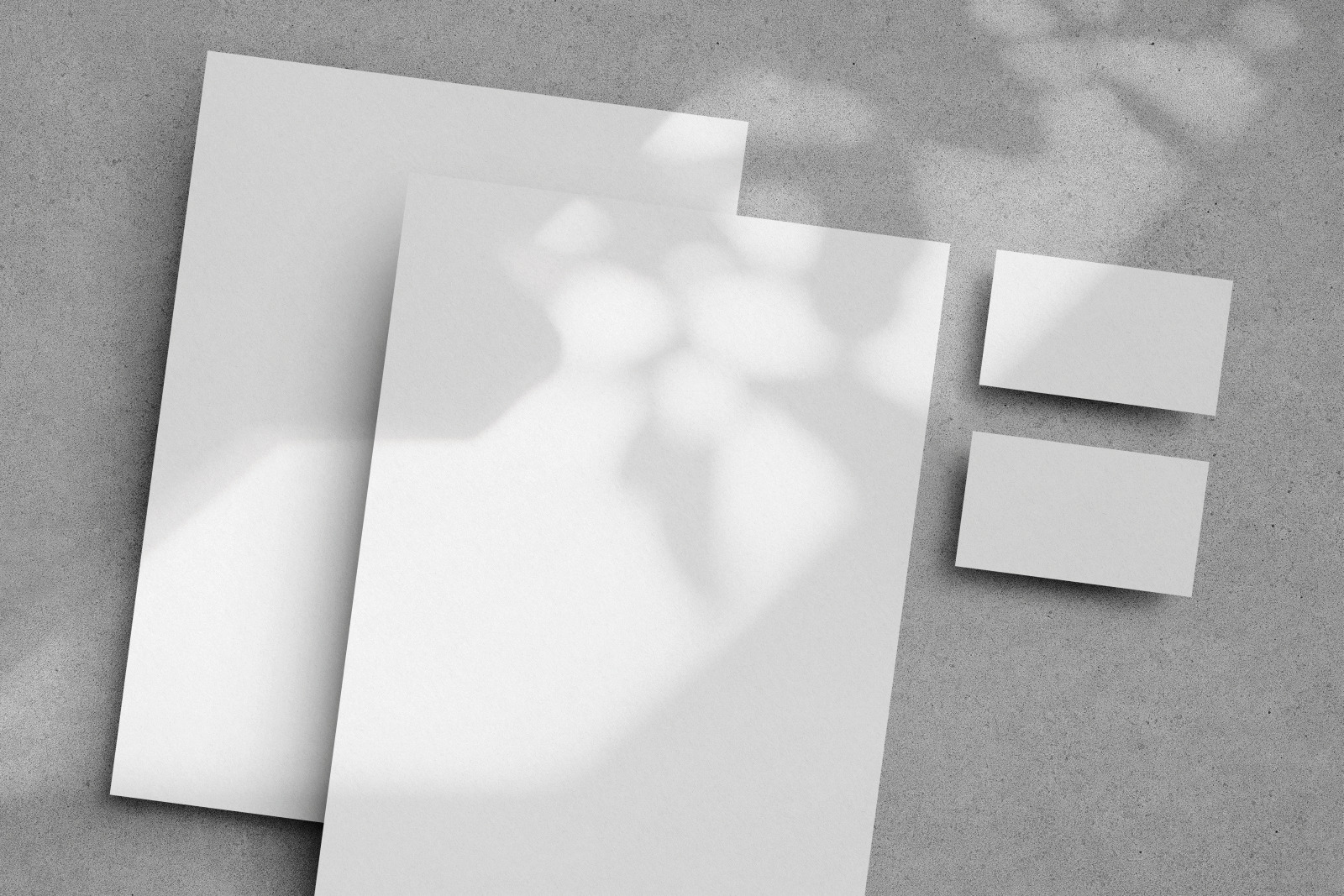 Free Stationery Paper with Shadow Mockup