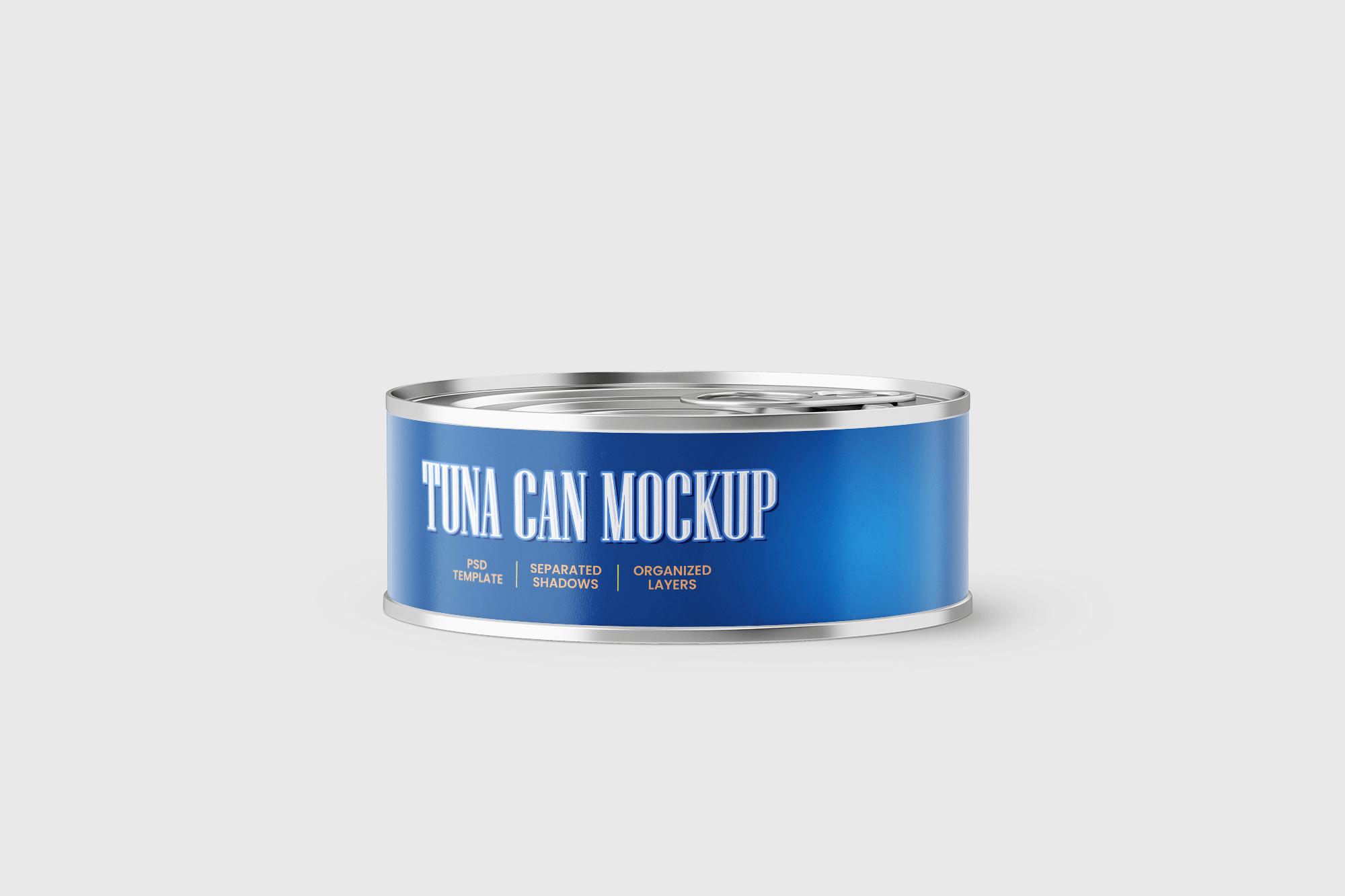 Free Can of Tuna Mockup