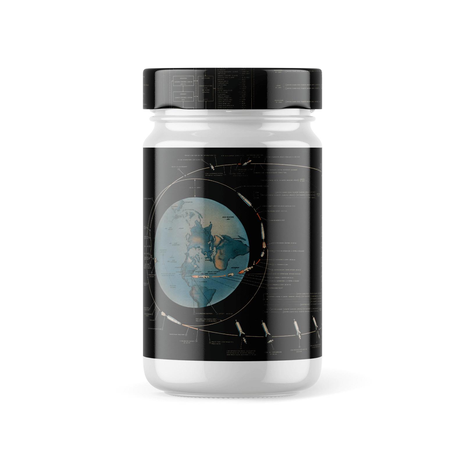 Free Glossy Jar with Lid Mockup
