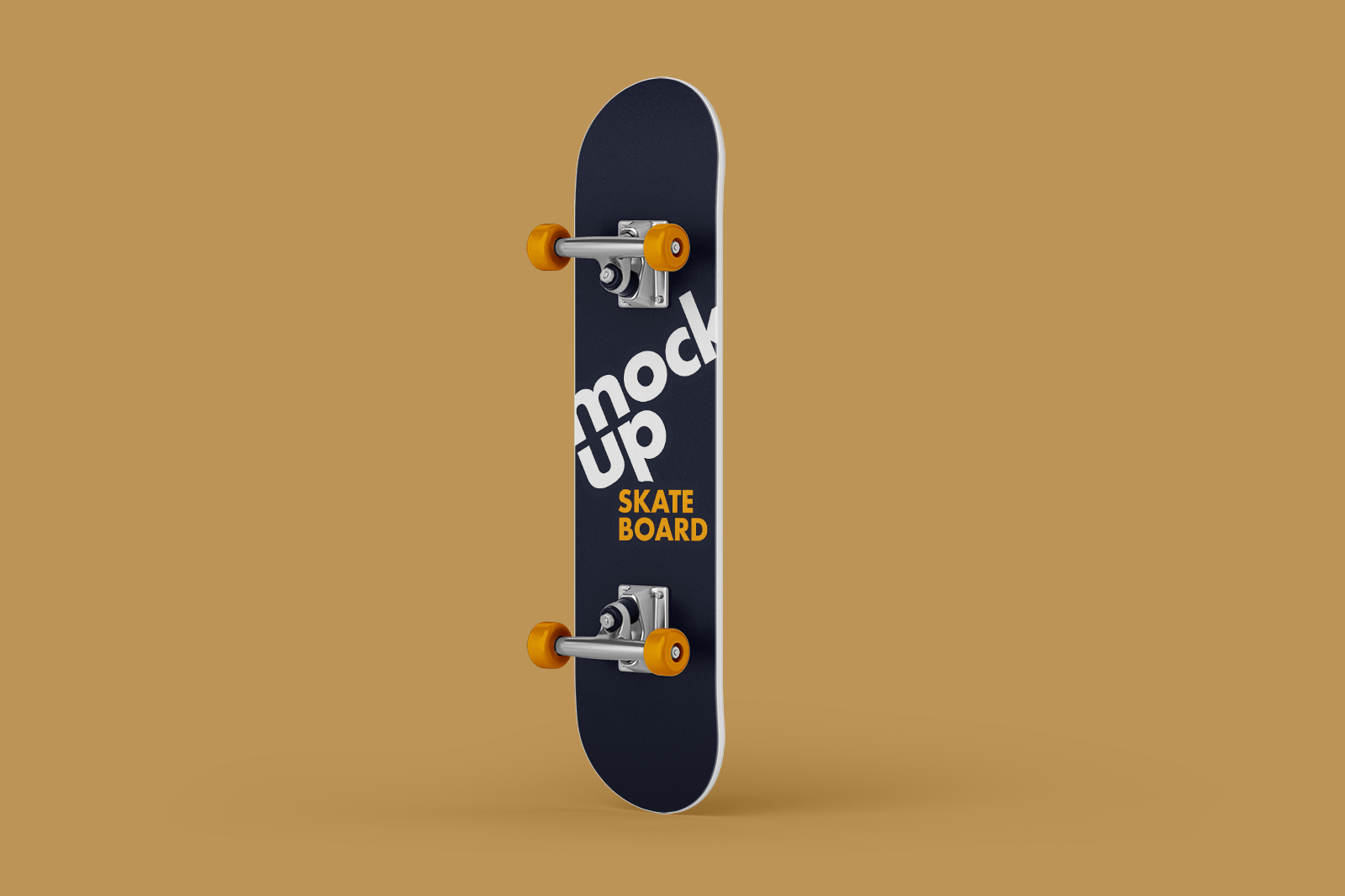 Free Standing Skateboard Mockup