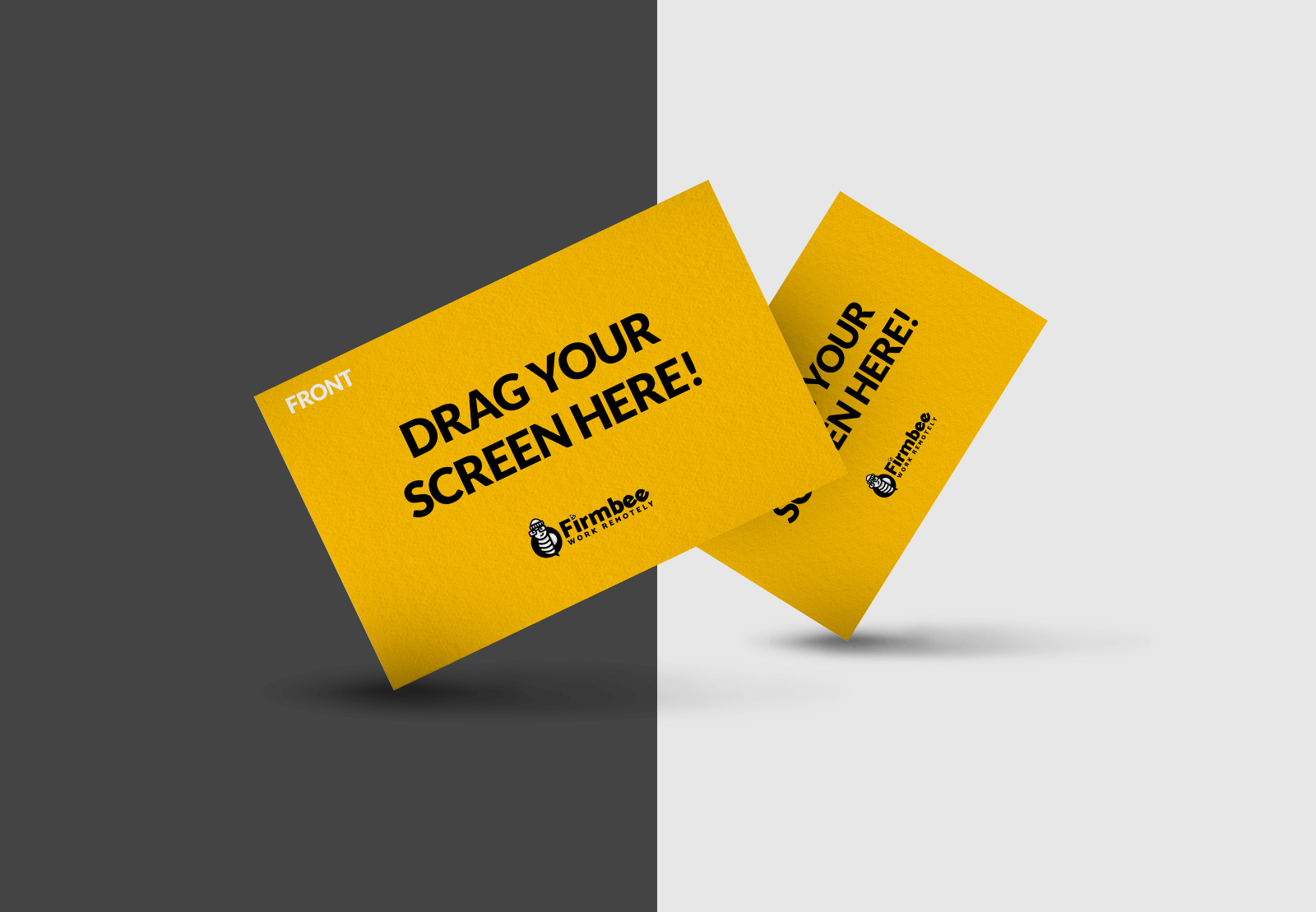 Free Two dancing Business Cards Mockup