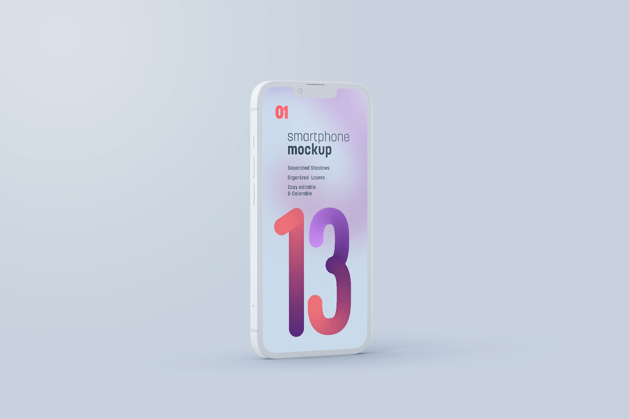 Free iPhone 13 (Clay Style) Mockup