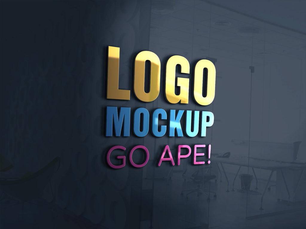 Download 3D Glass Window Logo MockUp | Free Mockups, Best Free PSD ... Free Mockups