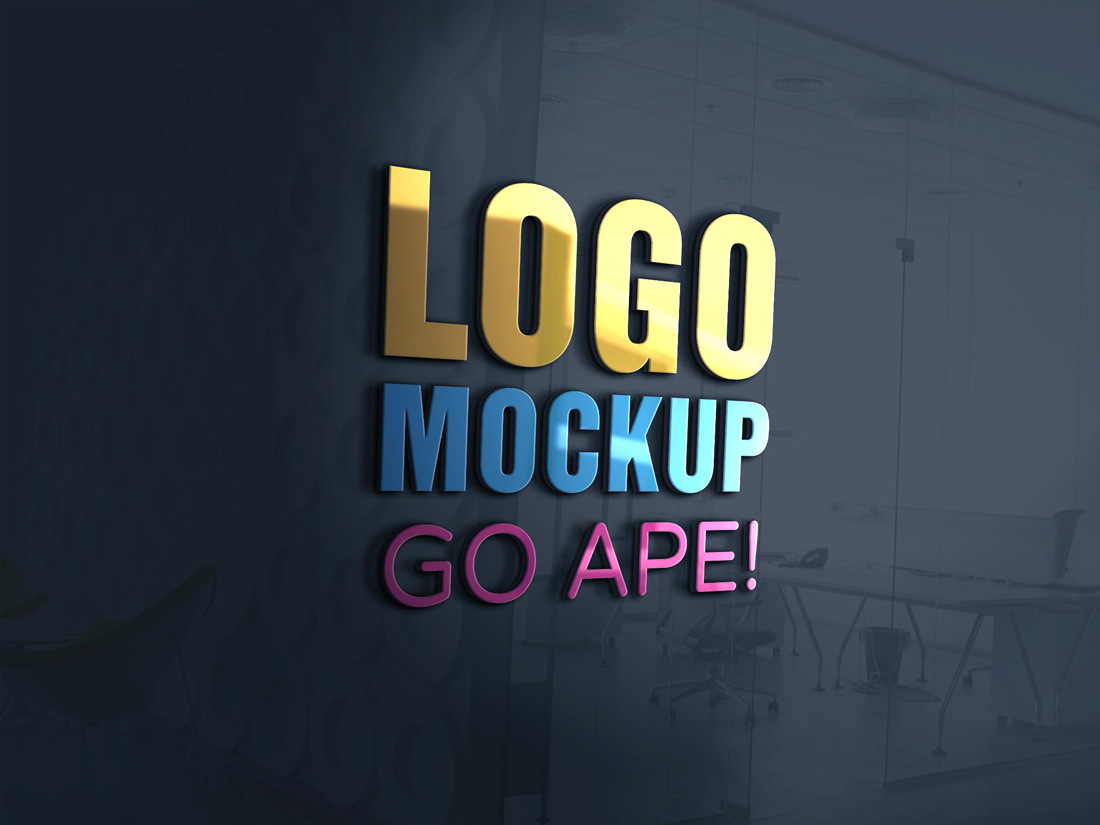 3d Glass Window Logo Mockup Free Mockups Best Free Psd Mockups