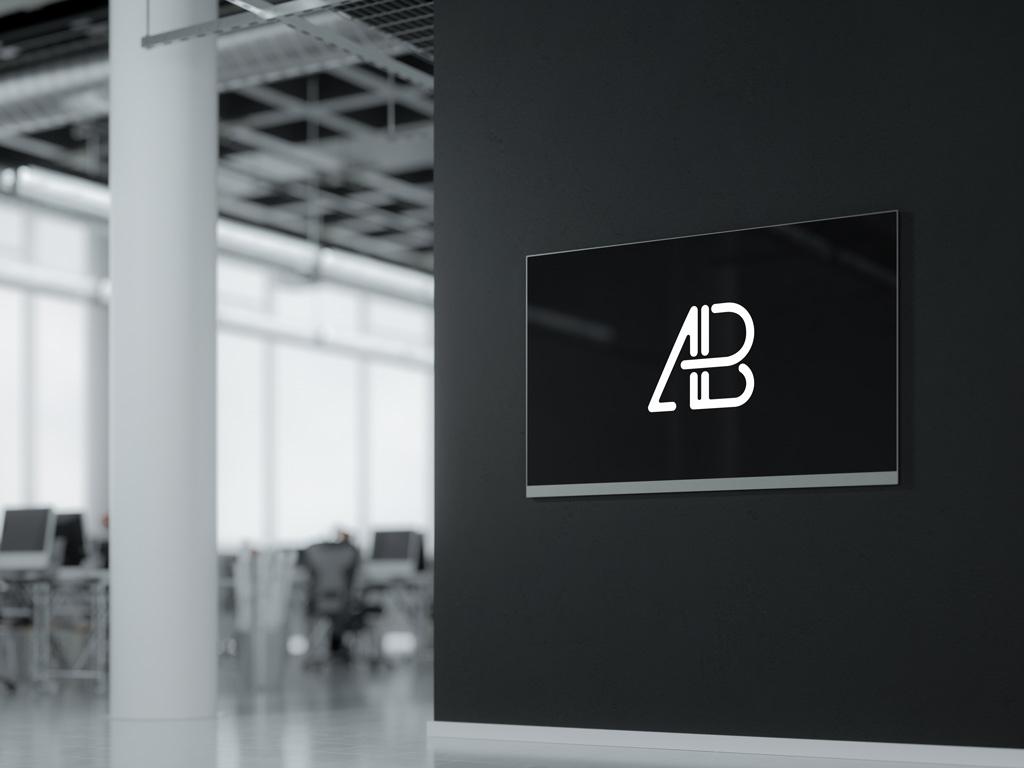 wall mounted digital display mockup apemockups paper bag clipart black and white brown paper bag clipart free