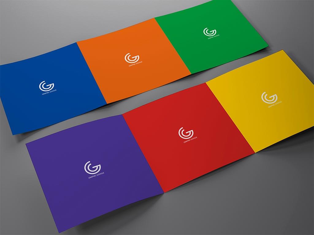 flat tri fold brochure mockup apemockups