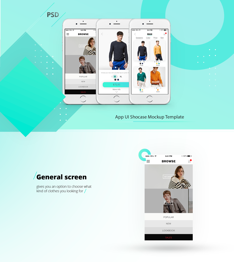 App showcase mockup template free psd2 for Facebook app template psd